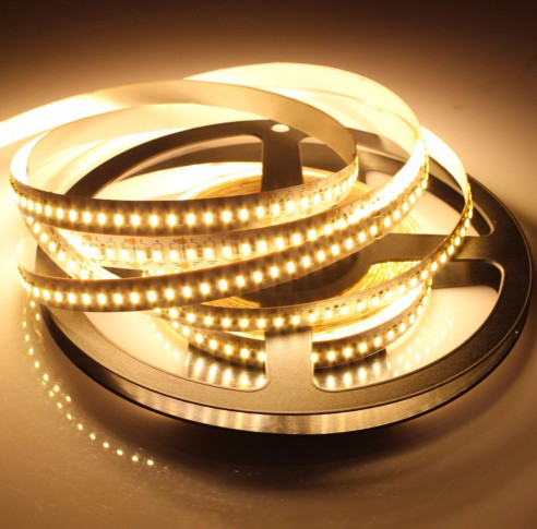 Светодиодная лента LED 12V, SMD3014, 204 д/м, белый тёплый
