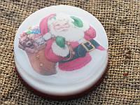 Оригинальное новогоднее мыло ручной работы с картинкой Санта с подарками