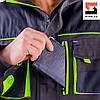 Куртка рабочая SteelUZ с салатовой отделкой, фото 7