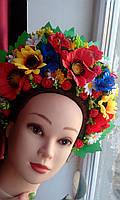 "Кокошник на голову ""Украинский яркий"", без лент, фото 1"