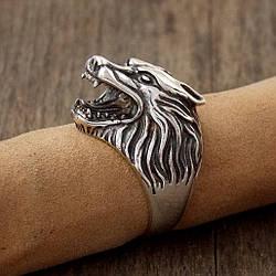Серебряный перстень Волк большой