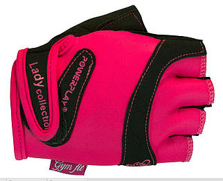 Перчатки женские для фитнеса PowerPlay 1729 розовые