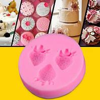 Форма клубнички, молд для конфет, декора торта, фото 1
