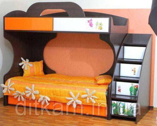 Детская двухъярусная кровать Пионер