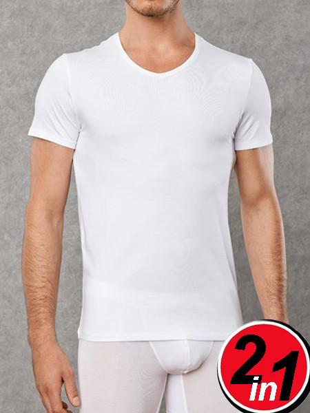 Набор из 2х белых футболок Doreanse 2800