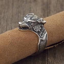 Серебряный перстень Волк