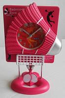 Настольные часы Бадминтон Украсит стол будет хорошим подарком для человека увлекающегося спортом Код: КГ4431