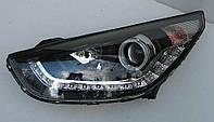 Передние Hyundai IX35 альтернативная тюнинг оптика фары тюнинг-оптика передние на HYUNDAI ХУНДАЙ Хендай IX35