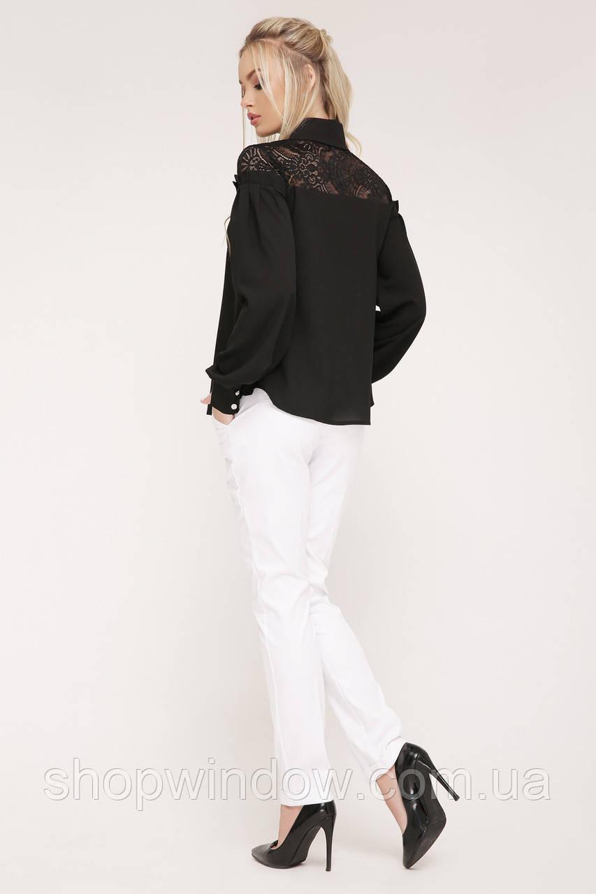 Нарядная Черная блузка с длинным рукавом. Молодежные блузки. Блуза нарядная.  Шикарная блуза. Нарядная 190c7be6d8a