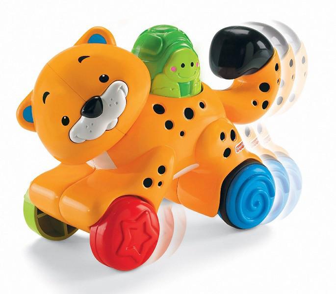 Fisher Price Инерционная игрушка гепард Press 'n Go Cheetah