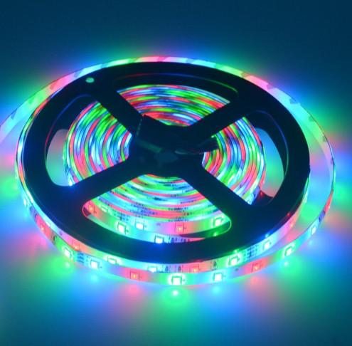 Светодиодная лента LED влагозащищённая, 12V, SMD5050, IP65, 60 д/м, RGB