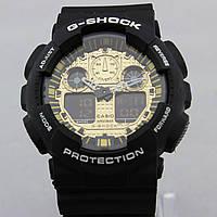 Часы наручные Casio G-Shock ga-100 Black-Gold CA1832