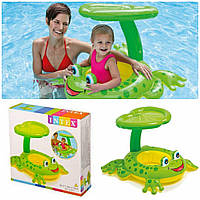 Детский надувной плотик для плавания «Лягушка» | «Intex»