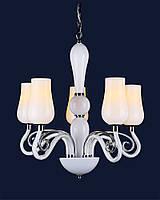 Стеклянная белая люстра для спальни 720P8034-5