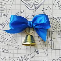 Дзвіночок з синім атласним бантом