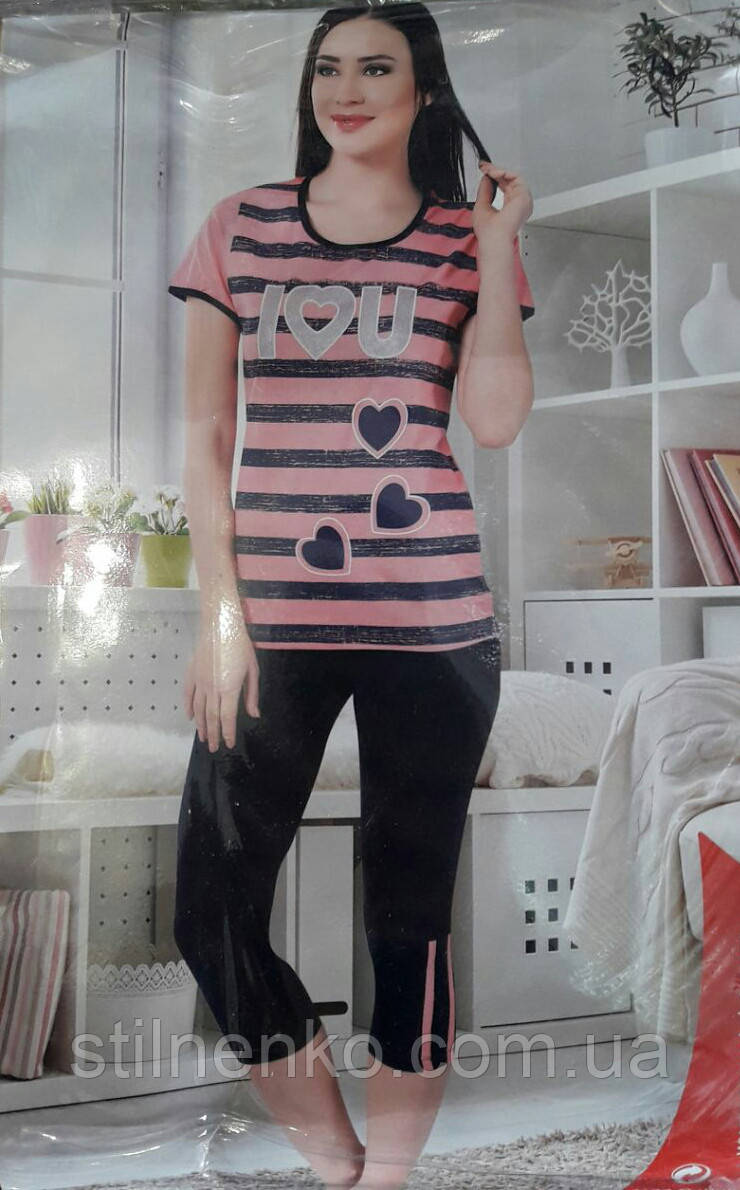 """Комплект футболка + бриджи """"ecrin"""" для женщин"""