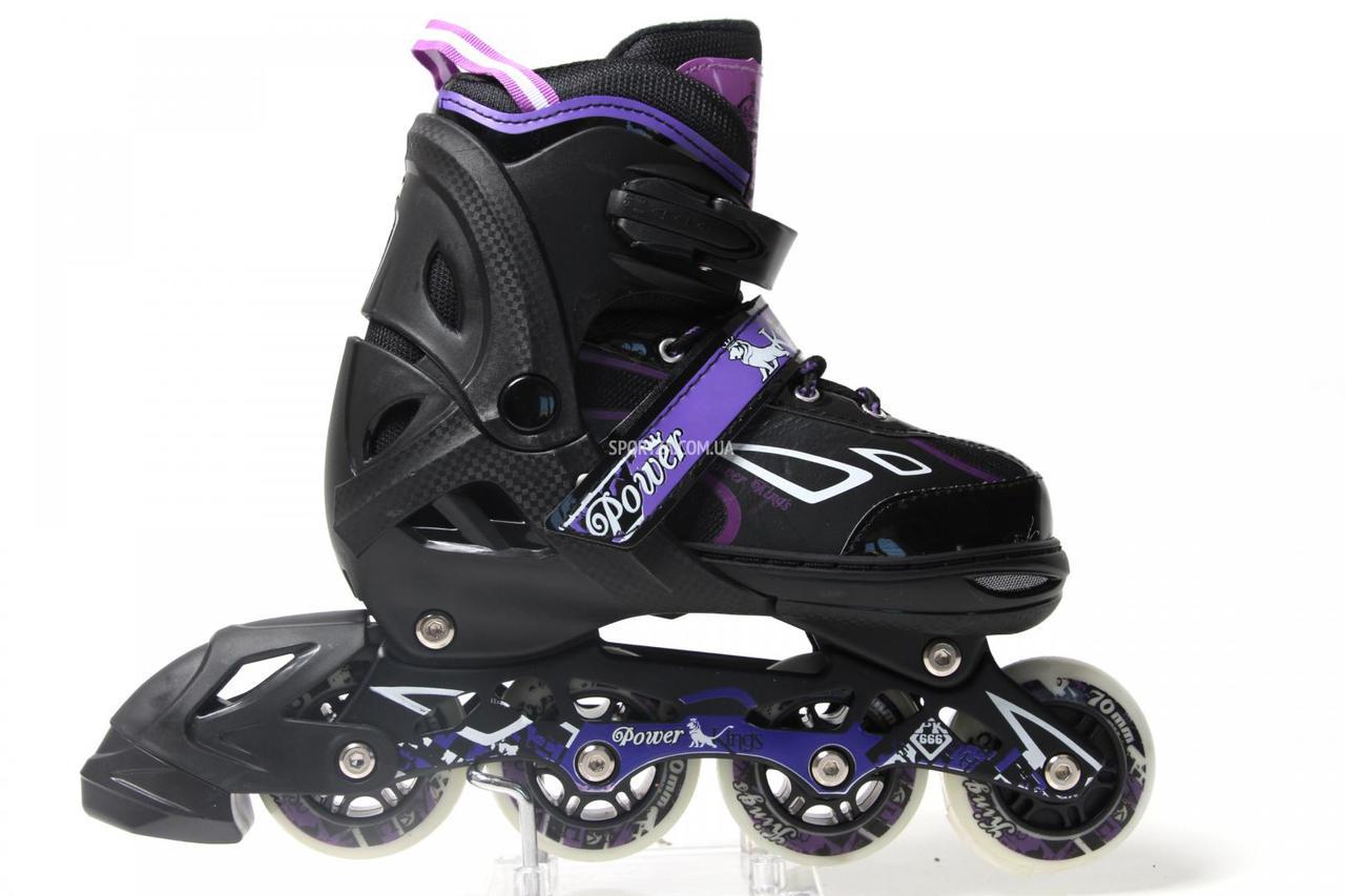 Роликовые коньки раздвижные King Power Фиолетовый цвет для девочки купить недорого , фото 1