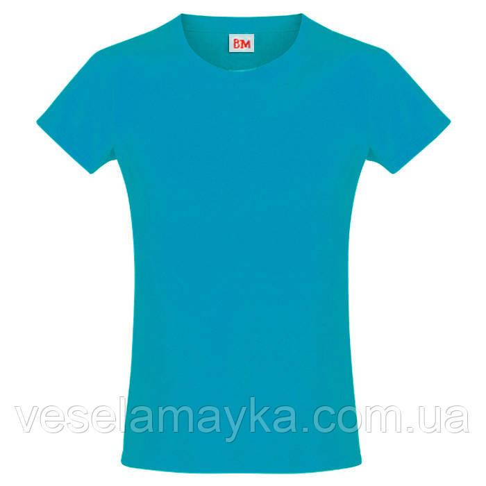 Бирюзовая футболка для девочек (Премиум)