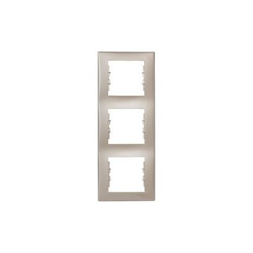 Рамка 3-я вертикальная титан Sedna Schneider, 4360