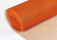 Сетка штукатурная щелочеустойчивая 5 х 5 мм (1 м х 50 м) (160 г/кв. м) оранж/красная. ЭКОНОМ Рулон