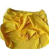 Комплект из эластана. Юбка-шорты и майка, желтая. Мод. 4013. Разные цвета., фото 2