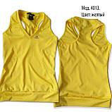Комплект из эластана. Юбка-шорты и майка, желтая. Мод. 4013. Разные цвета., фото 3