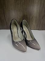 Женские классические туфли на высокой шпильке NIVELLE 1494 пудра