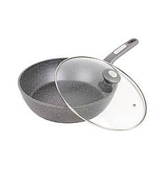 Сковорода-сотейник Kamille Granite Ø24см с крышкой