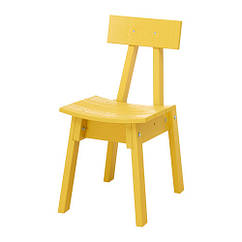 Кресло IKEA INDUSTRIELL желтое 803.945.07