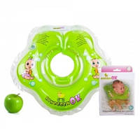 Круг для купания младенца KinderenOK Зеленое Яблочко - зеленый