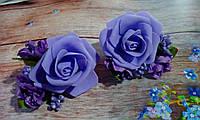"""Резиночки для волос """"Сиреневые цветы"""", фото 1"""
