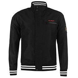Мужская куртка ветровка Pierre Cardin Windbreaker черная оригинал J0039/39