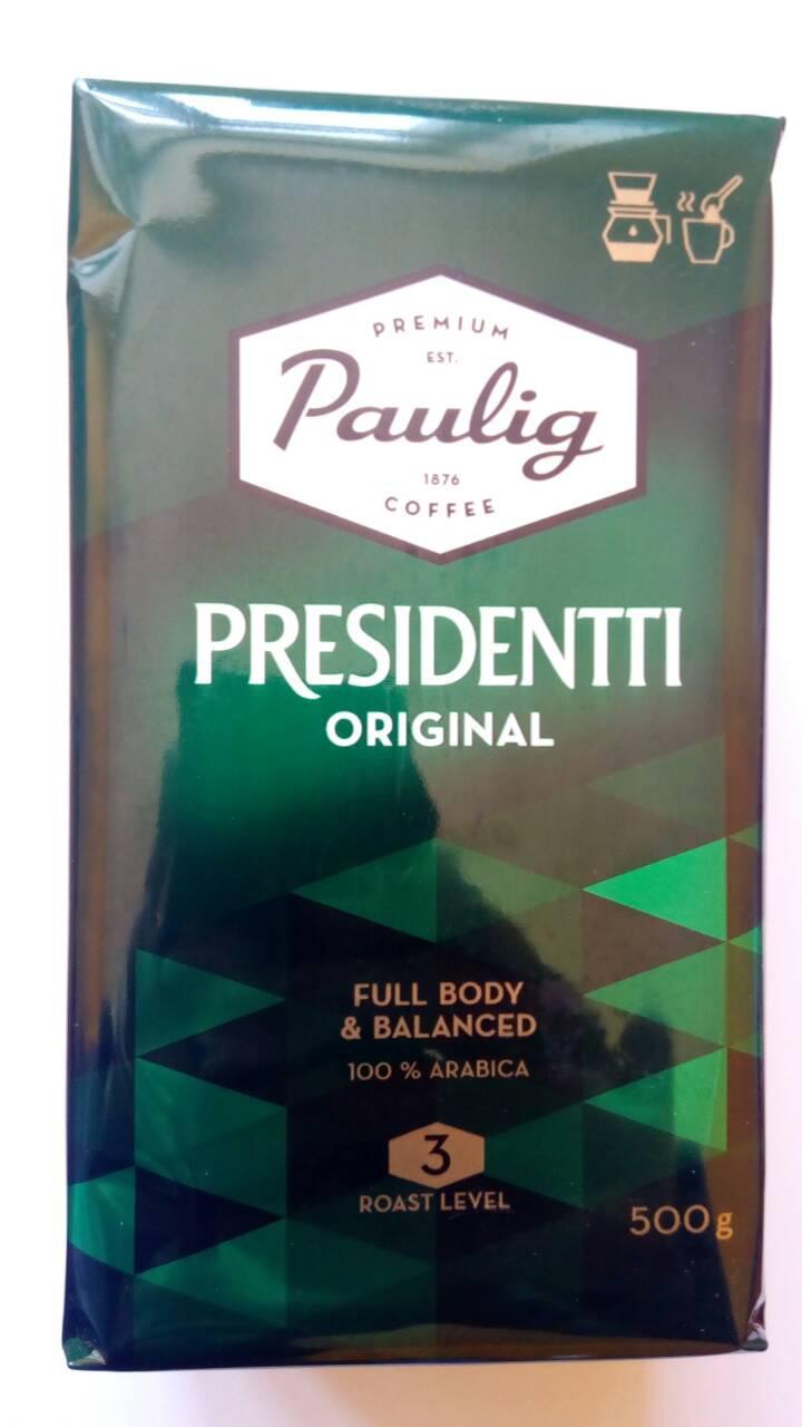 Молотый кофе Paulig Presidentti Original  500 гр.