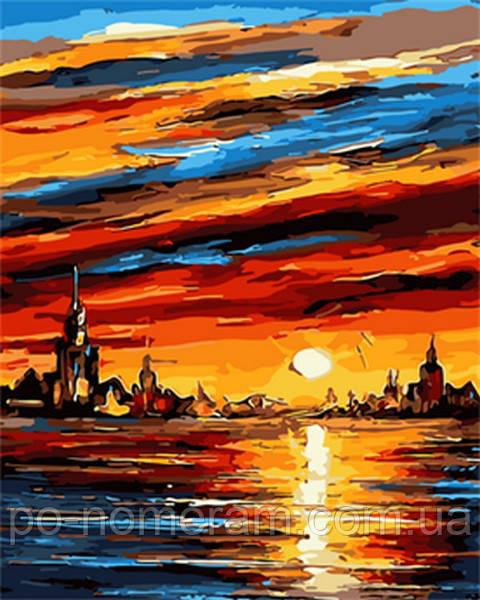 Чарующий закат, художник Леонид Афремов