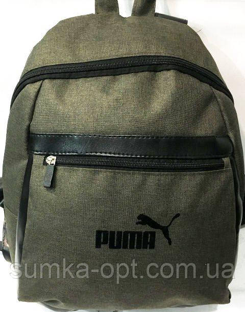 Рюкзаки спорт стиль Puma (хаки)26*35