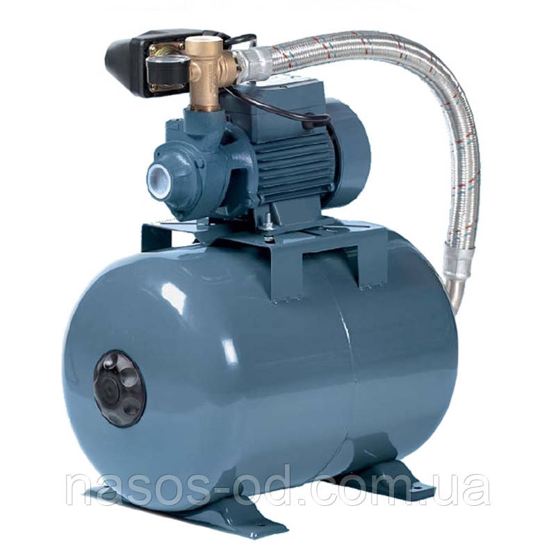 Насосная станция гидрофор Euroaqua PKm80 для воды 0.75кВт Hmax55м Qmax45л/мин (вихревой насос) 24л