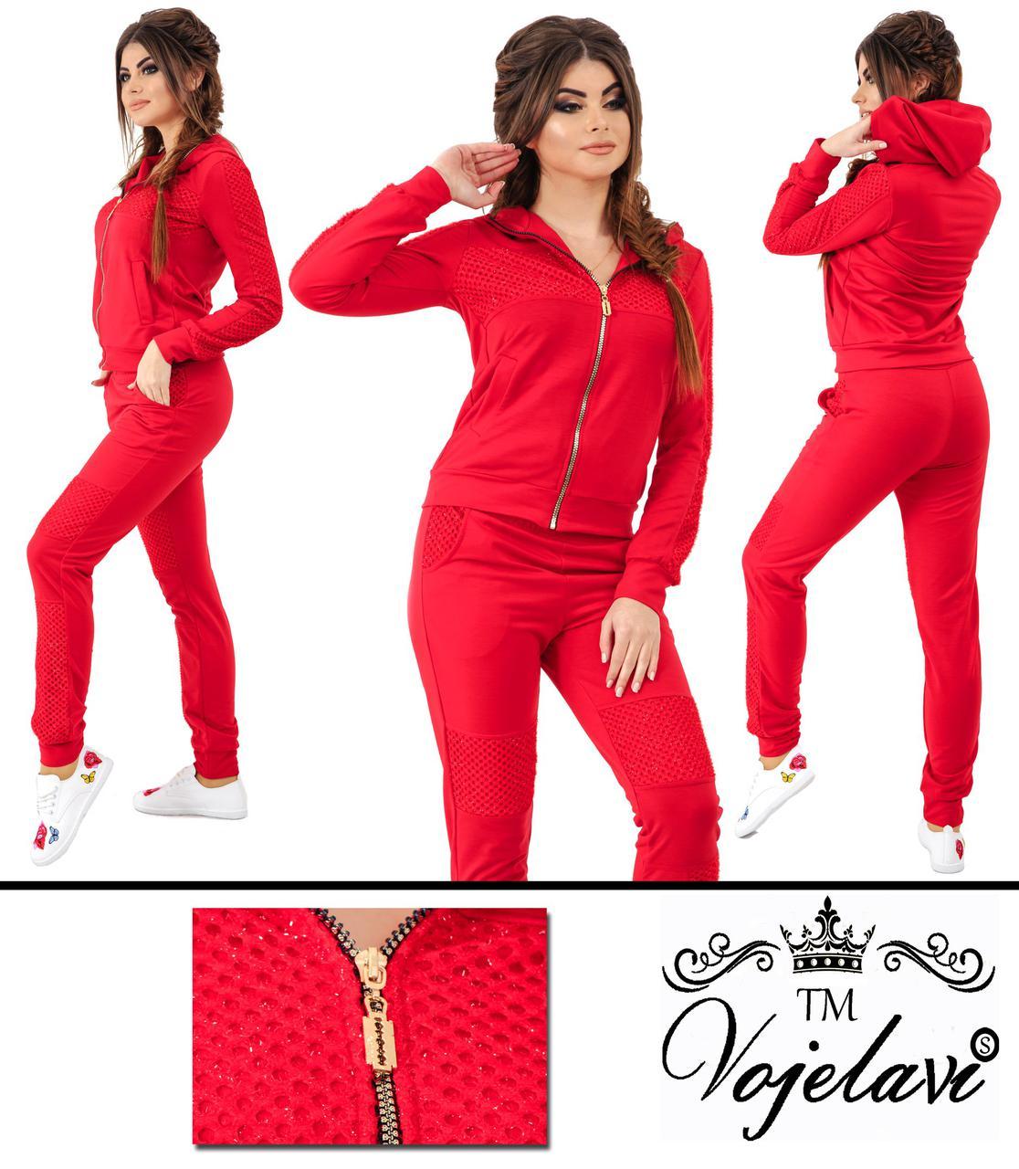 31c2f16c Женский красный спортивный костюм большого размера пр-во Украина 023G