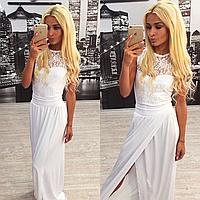 Женское платье длинное белое в пол 42-46 рр, фото 1