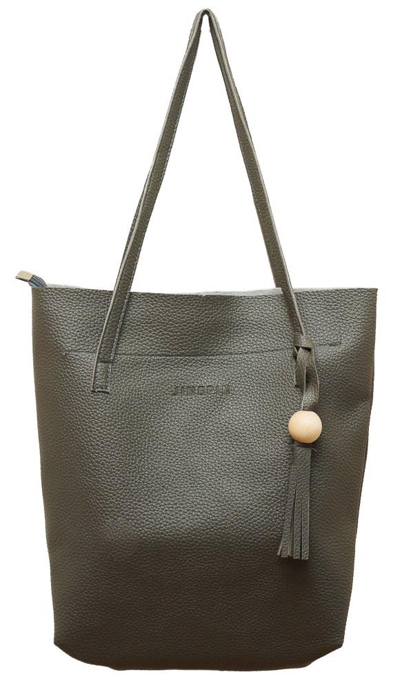 """Стильная женская сумка """"3 в 1"""" Z-028 (серая)"""