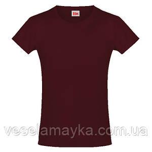 Бордовая футболка для девочек (Премиум)
