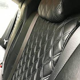Авточехлы из экокожи на  Audi 80 В3 с 1986-1991г. Седан.