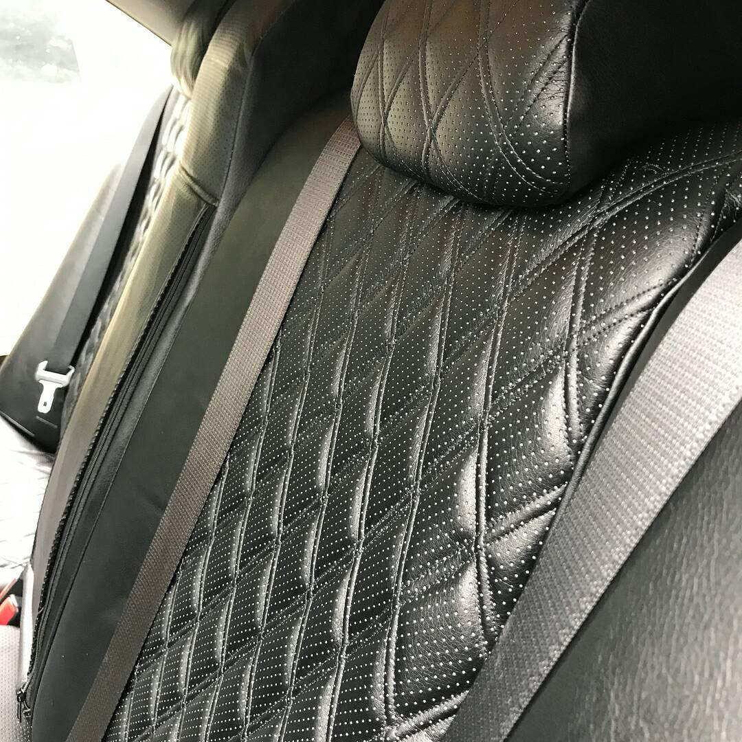 Авточехлы из экокожи на  Audi A 3 8P с 2003-2013г. хэтчбек 3 дверей