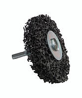 Круг зачистной из вспененного абразива Orientcraft черный с держателем для дрели 125*10 мм (средней жесткости)