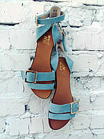 Женские босоножки сандалии качественные на низком ходу больших размеров 41 42