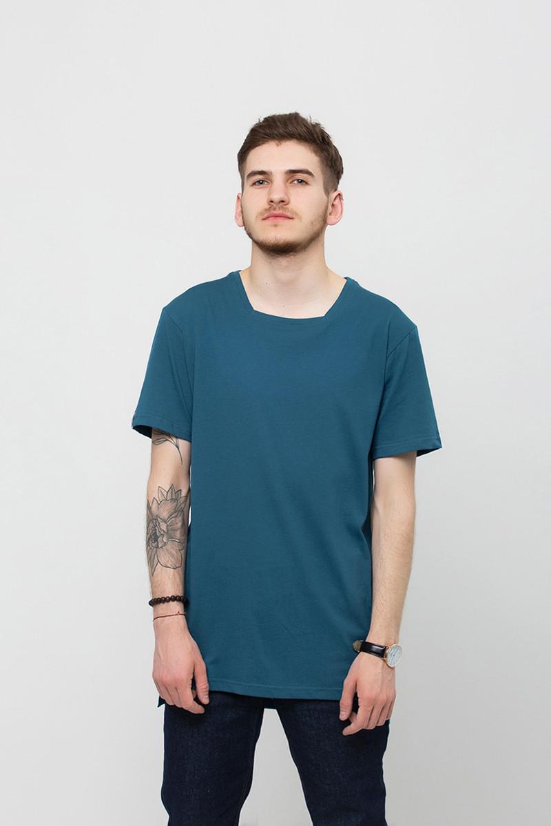 e3c8a12a373 Мужская футболка синяя ORIGINAL T Urban Planet (футболки