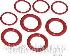 Кольцо уплотнительное свечных колодцев ВАЗ 2108, 2109, 2110, 2111, 2112, Приора GM комплект 8 шт.
