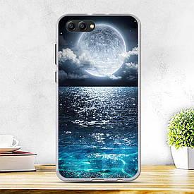 Силиконовый бампер для Huawei honor V10 с рисунком луна
