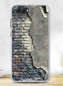 Силиконовый бампер для Huawei honor V10 с рисунком стена
