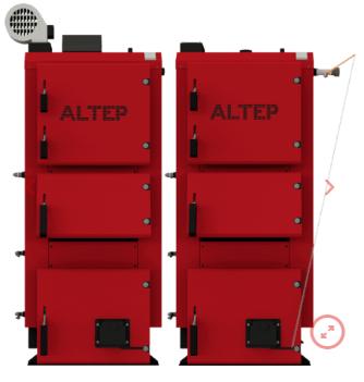 Котел твердотопливный Altep (Альтеп) DUO PLUS 38 кВт. Бесплатная доставка.