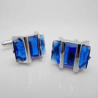 Запонки Винтаж Синий кристалл идеально подойдут для женщин и мужчин с голубыми глазами